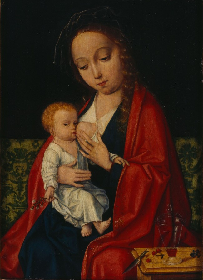 Anonym, Umkreis Joos van Cleve, 1485-1540, Jungfrau mit Kind, 15.-16. Jh, Öl auf Platte © Olbricht Collection Berlin/ Foto: Achim Kukulies