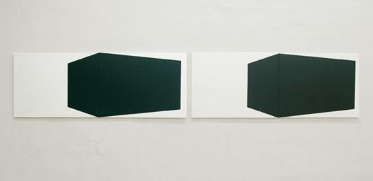 Joung-en Huh: Gudrun 1 & Gudrun 2, Acrylic on canvas, 75 x 110 cm, 2005