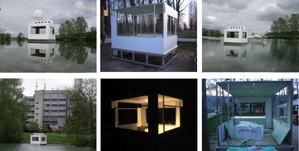Joung-en Huh: HOTEL 2006 (feat. Heinrich Gartentor) artcanal fluid in Le Landeron, Schweiz und Dejoun, Südkorea. Fotos: Igor Gartentor. Ausstellungsansichten