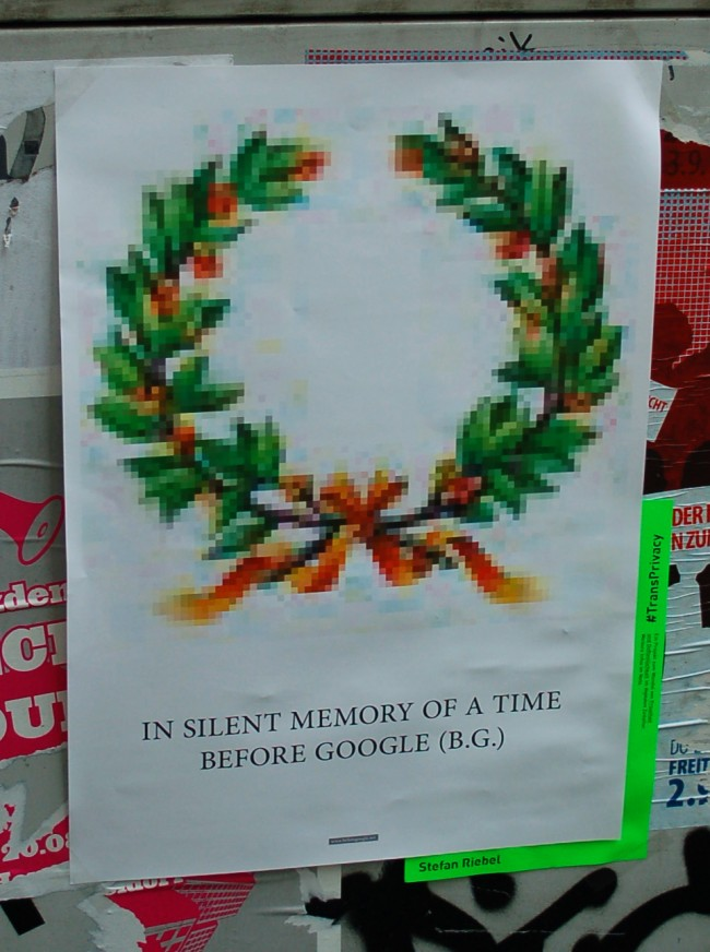 Stefan Riebel - 'In silent memory of a time before Google (B.G.)' - Düsseldorf 2011