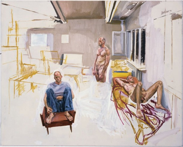 Steven Black: o. T. / Öl auf Leinwand, 120 x 150 cm, 2002 / Galerie Alexandra Saheb, Berlin