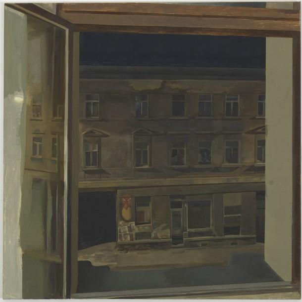 Steven Black: SB 2012.03, Öl auf Leinwand, 100 x 100 cm / Galerie Alexandra Saheb, Berlin