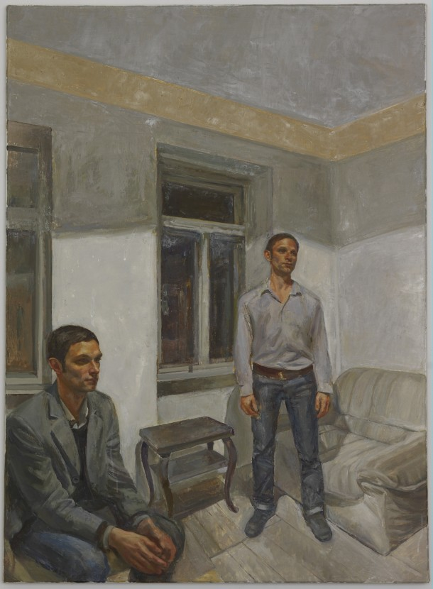 Steven Black: SB 2012.01 / Öl auf Leinwand, 80 x 110 cm / Galerie Alexandra Saheb, Berlin