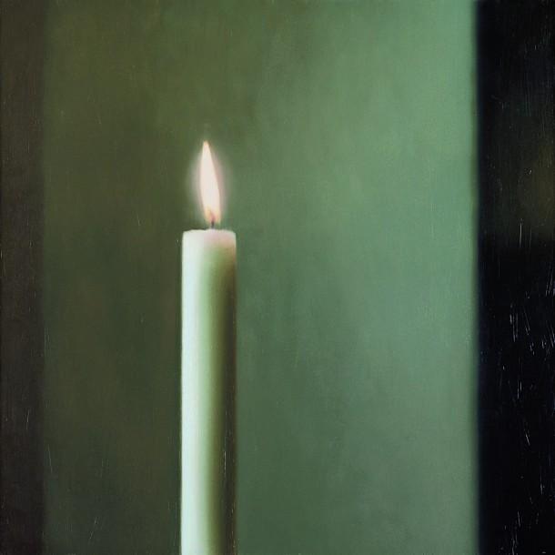 Gerhard Richter: Kerze, 1982, 100 x 100 cm, Öl auf Leinwand | Museum Frieder Burda, Baden-Baden | © Gerhard Richter 2012