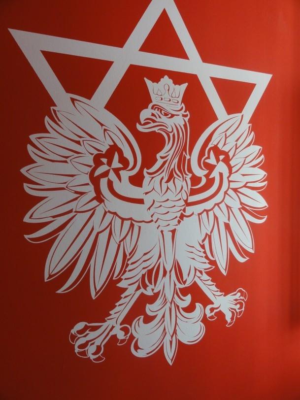 Emblem des Jewish Renaissance-Movement mit dem politischen Ziel der Rücksiedelung polnischer Juden