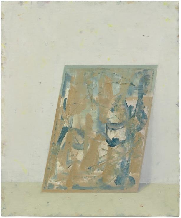 Pius Fox: abstraktes Bild,46 x 38 cm, Öl auf Papier, 2011