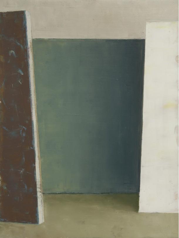Pius Fox: Atelier II, 32 x 24 cm, Öl auf Papier, 2013