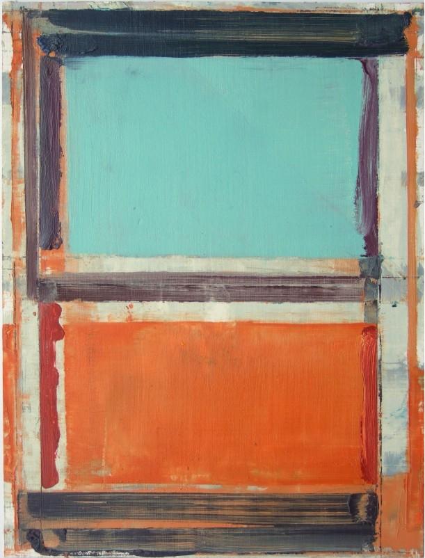 Pius Fox: o.T., 25 x 18 cm, Öl auf Papier, 2010