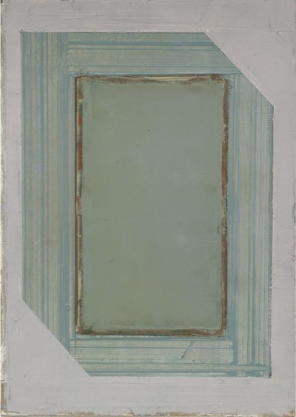 Pius Fox: o.T., 24 x 17 cm, Öl auf Papier, 2013
