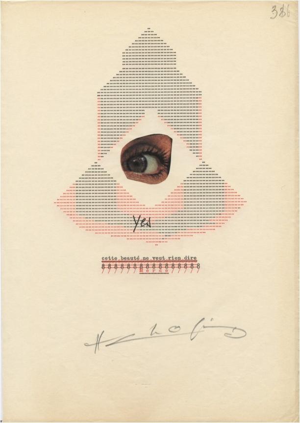 Henri Chopin: La Crevette Amoureuse. Ausstellungsansicht © Supportico Lopez, Berlin.
