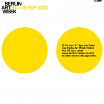 Berlin Art Week 2012 (Programmflyer)