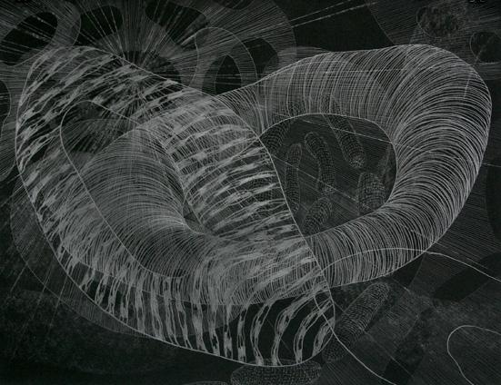 Gerlinde Salentin: ohne Titel, Zeichnung, 50 x 65 cm, 2006