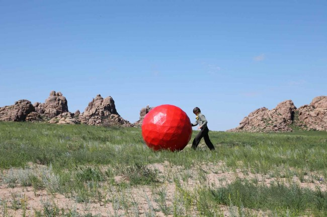 Irene_Paetzug - Beitrag Land Art Biennale Mongolia 2012