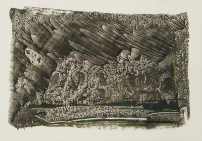 Thorsten Dittrich: Transmission II, Oil on paper,, 2013