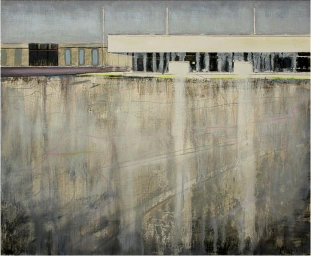 Thorsten Dittrich: Freigabe. Ölmalerei/ Zeichnung auf Papier und Leinwand.42x50cm, 2012