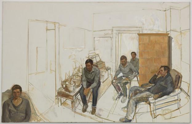 Steven Black: SB 2012.02, Öl auf Leinwand, 110 x 170 cm / Galerie Alexandra Saheb, Berlin
