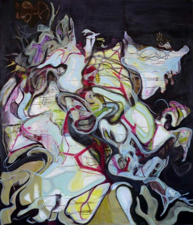 Wolf Raskin: L (R) 9 11. Öl auf Leinwand, 210,00x180,00 cm, 2011
