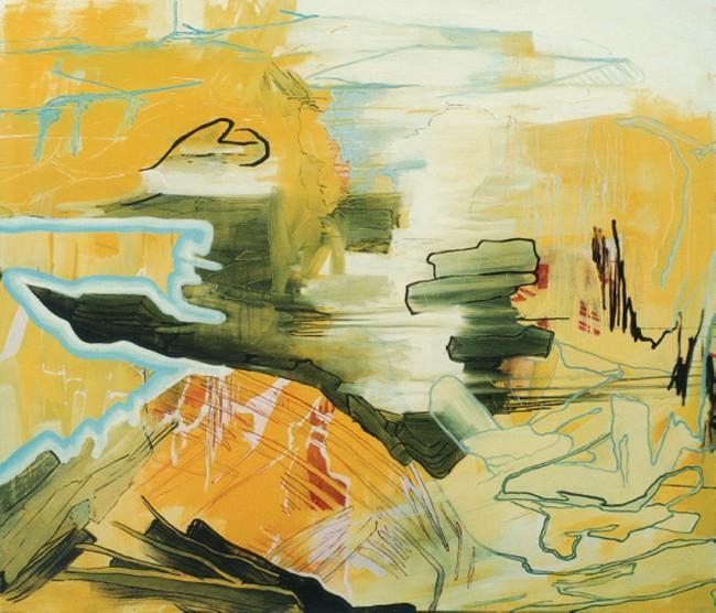 Wolf Raskin: NB 45 73. Acryl, Öl auf Leinwand, 2010