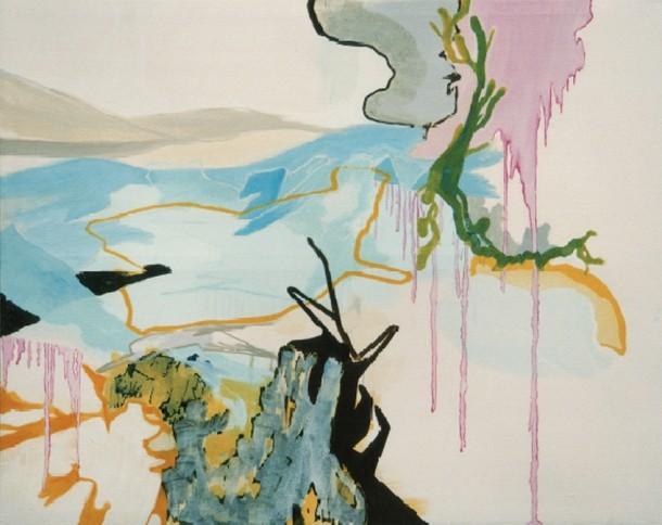 Wolf Raskin: OB 3 112. Öl, Tempera auf Leinwand, 2003