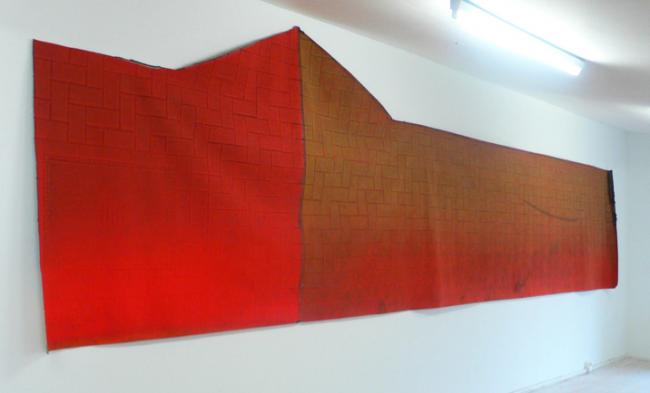 Stefanie Pürschler: Grabengasse. Relief-Teppich, 180 x 750 cm, 2009 © Stefanie Pürschler