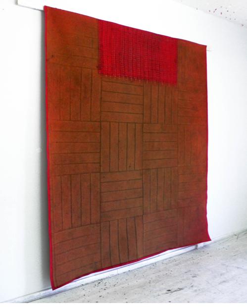 Stefanie Pürschler: Trinkhalle. Relief-Teppich, 260 x 220 cm, 2007 © Stefanie Pürschler
