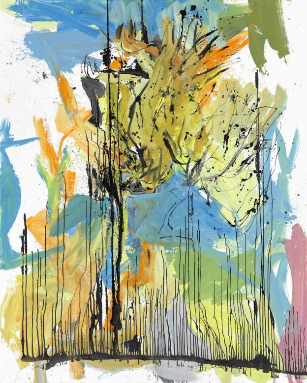 Georg Baselitz: Bei Willem, 2009, Öl auf Leinwand / Oil on canvas, Sammlung Goetz München / Goetz Collection Munich © Georg Baselitz, 2014, Foto / Photo: Jochen Littkemann