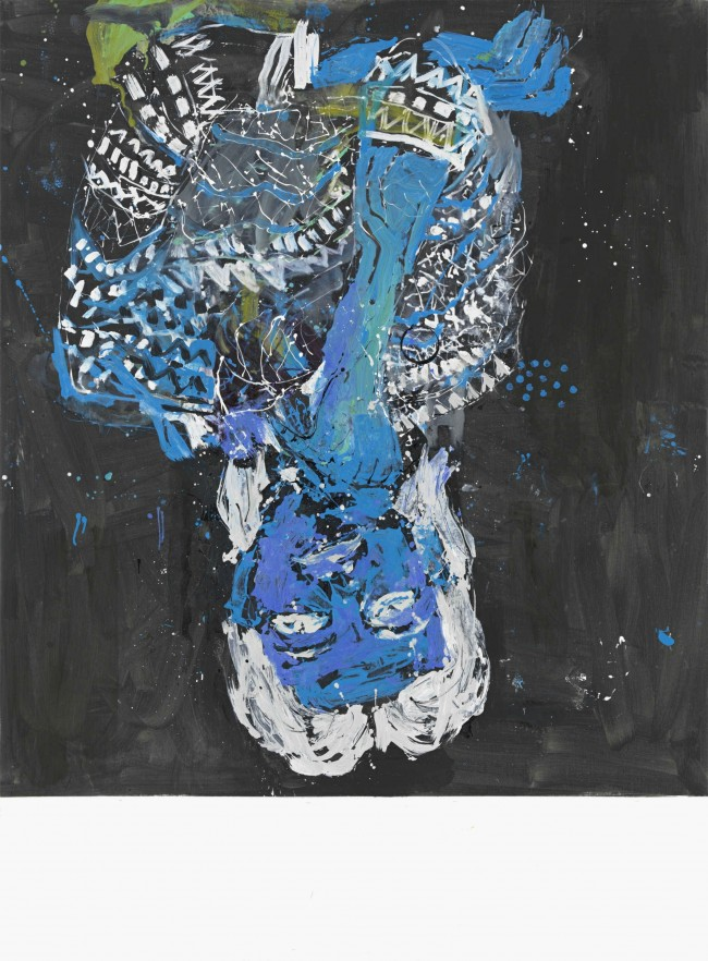 Georg Baselitz: Elke negativ blau, 2012, Öl auf Leinwand / Oil on canvas, Hélène Nguyen-Ban, © Georg Baselitz, 2014, Foto / Photo: Jochen Littkemann