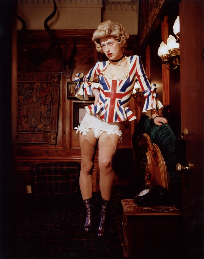 Bettina Rheims: Harriet Vernet Queenie standing on the bed. Bonkers - A fortnight in London. © Bettina Rheims