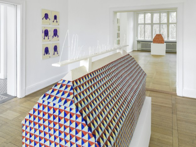 "Installationsansicht ""Martin Assig - Being Fortunate"", Haus am Waldsee, 2015, Foto: Roman März Ⓒ VG Bild-Kunst, Bonn 2015"