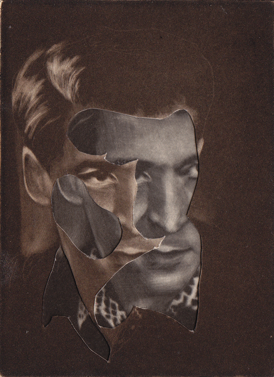 Majla Zeneli: untitled, collage with mezzotint prints, 16,3 x 11,5 cm (12,3 x 9,2 cm), 2013 © Majla Zeneli